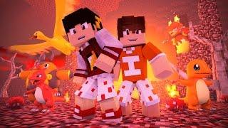 Minecraft: LIGA POKEMON #9 - Ginásio de Fogo ‹ AM3NIC ›