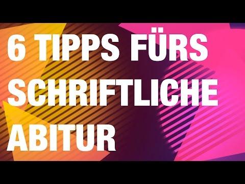 6 Tipps fürs schriftliche Abitur von YouTube · HD · Dauer:  8 Minuten 28 Sekunden  · 77.000+ Aufrufe · hochgeladen am 12.03.2014 · hochgeladen von deutschstundeonline