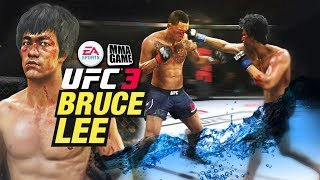 1st EVER UFC 3 RANKED Match on PS4 with BRUCE LEE
