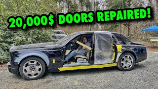 Rebuilding A Rolls Royce Phantom From Copart! (Part 3) Here's How I SAVED 20,000$ DOORS!
