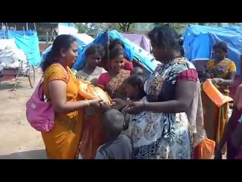 Serving Needy's First Distribution Of Clothes To Poor People In Slums