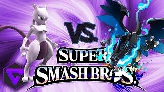 "SUPER SMASH BROS: MEWTWO VS MEGA CHARIZARD X ""POKÉMON ORIGINS"" (3DS)"