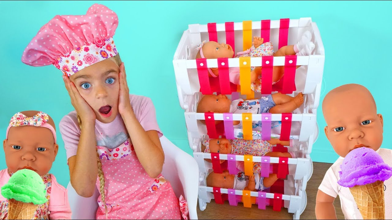 Las Ratitas cuidan de sus bebés pretend play with toys baby born dolls