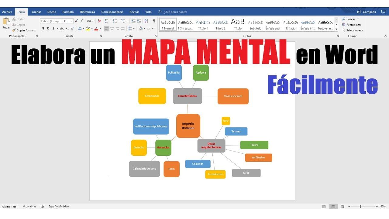 c u00d3mo hacer un mapa mental en word f u00c1cilmente
