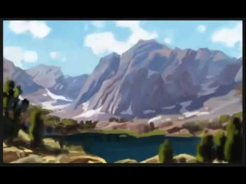 Painting a digital landscape in Photoshop