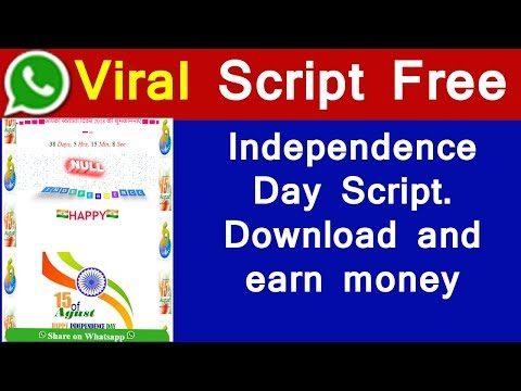 Whatsapp Viral Script Download and Earn Money   Independence Day Script