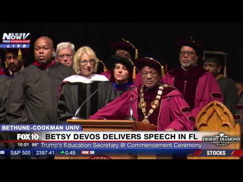 CHAOS: Mix of BOOS & CHEERS as Betsy DeVos Speaks at Bethune-Cookman University Commencement