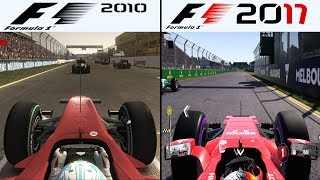 F1 Game Comparison (2010 - 2017 Gameplay Comparison)