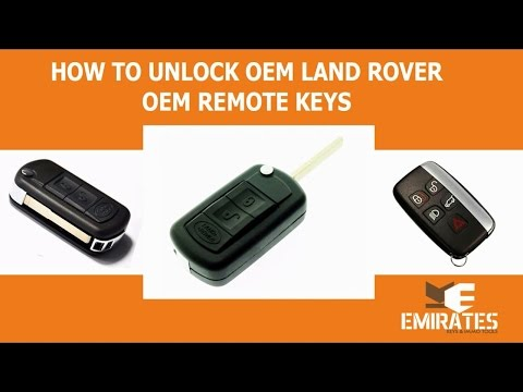 How To Unlock Land Rover Range Rover Sport Flip Remote via MK3