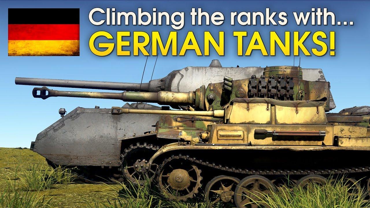 Climbing the ranks with GERMAN TANKS / War Thunder - YouTube