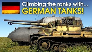 Climbing the ranks with GERMAN TANKS / War Thunder