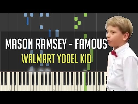 Mason Ramsey - Famous | Piano Cover/Tutorial + Sheets