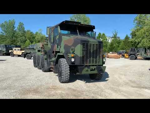 FOR SALE: 2002 OSHKOSH M1070 8X8 HET MILITARY HEAVY HAUL TRACTOR TRUCK