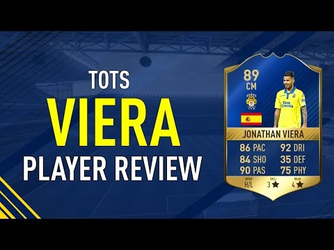 FIFA 17 TOTS VIERA 89 PLAYER REVIEW