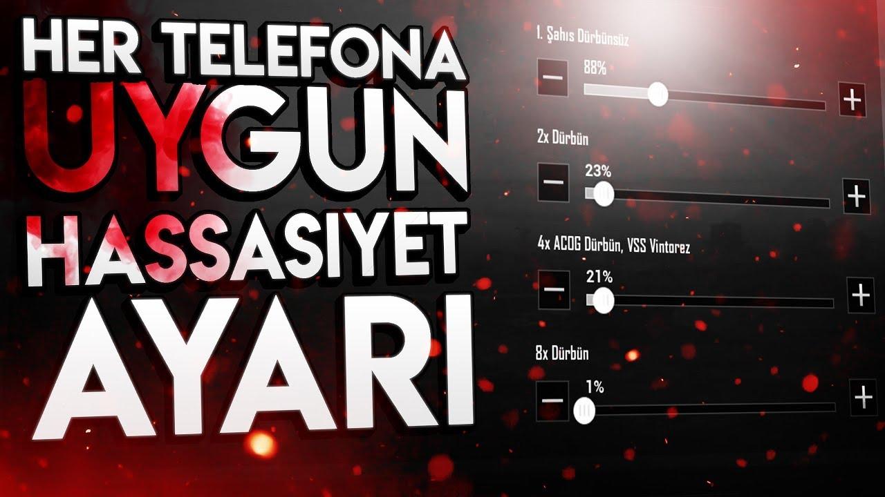HER TELEFONA UYGUN HASSASİYET AYARLARI | PUBG Mobile Taktikleri Türkçe 2019