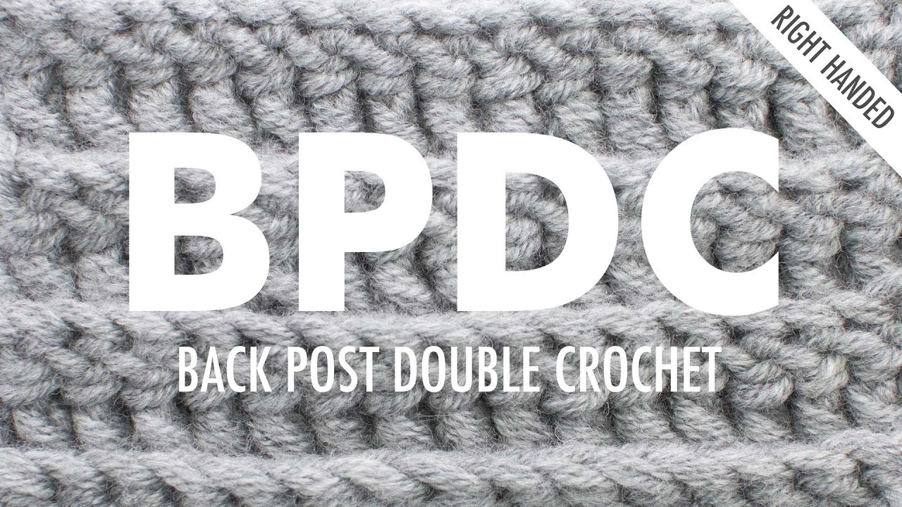 Crochet Stitches Abbreviations Fpdc : The Back Post Double Crochet Stitch (BPdc) :: Crochet Abbreviation ...
