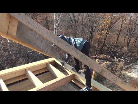 видео: Крыша , делаем стропильную систему