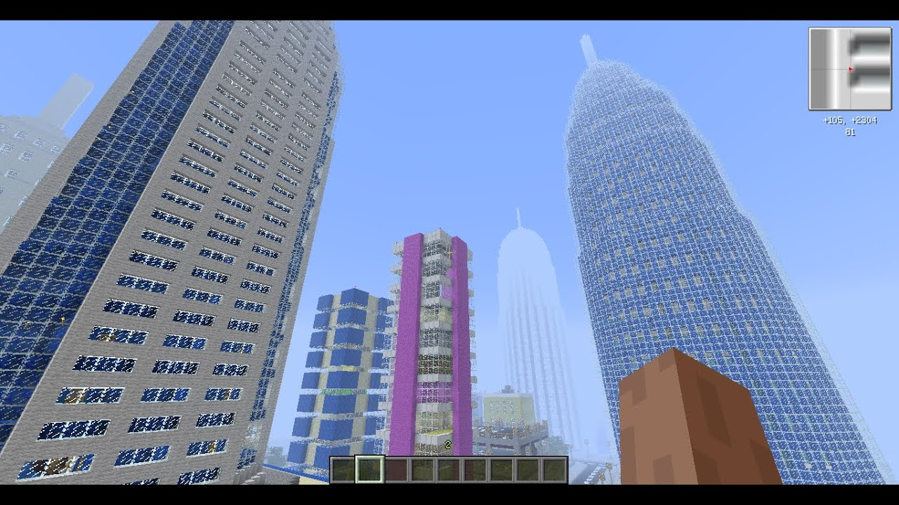 Minecraft - Big city + village, dam, highway system ...