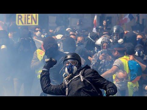 فرنسا: مواجهات بين الشرطة والمتظاهرين في مسيرة عيد العمال…