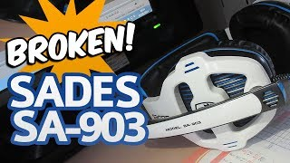 BROKEN! One and a Half Month Later ► SADES SA-903 USB Gaming Headset
