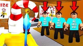 Sneaking into an Ant haters HATE club... What I SEE WILL SHOCK YOU.. (Roblox)