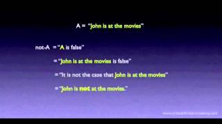 Propositional Logic: Contradictories Thumbnail