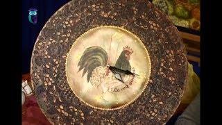 Декупаж часов, деревянной доски в технике имитации металлического кружева. Мастер класс