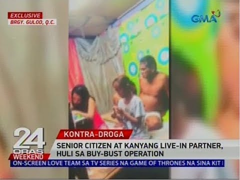 24 Oras: Senior citizen at kanyang live-in partner, huli sa buy-bust operation