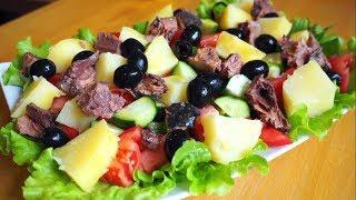 Бомбический Теплый Салат с Тунцом и Картофелем