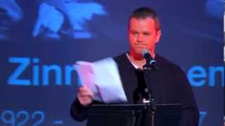 Matt Damon excerpts from Howard Zinns speech  The Problem is Civil Obedience