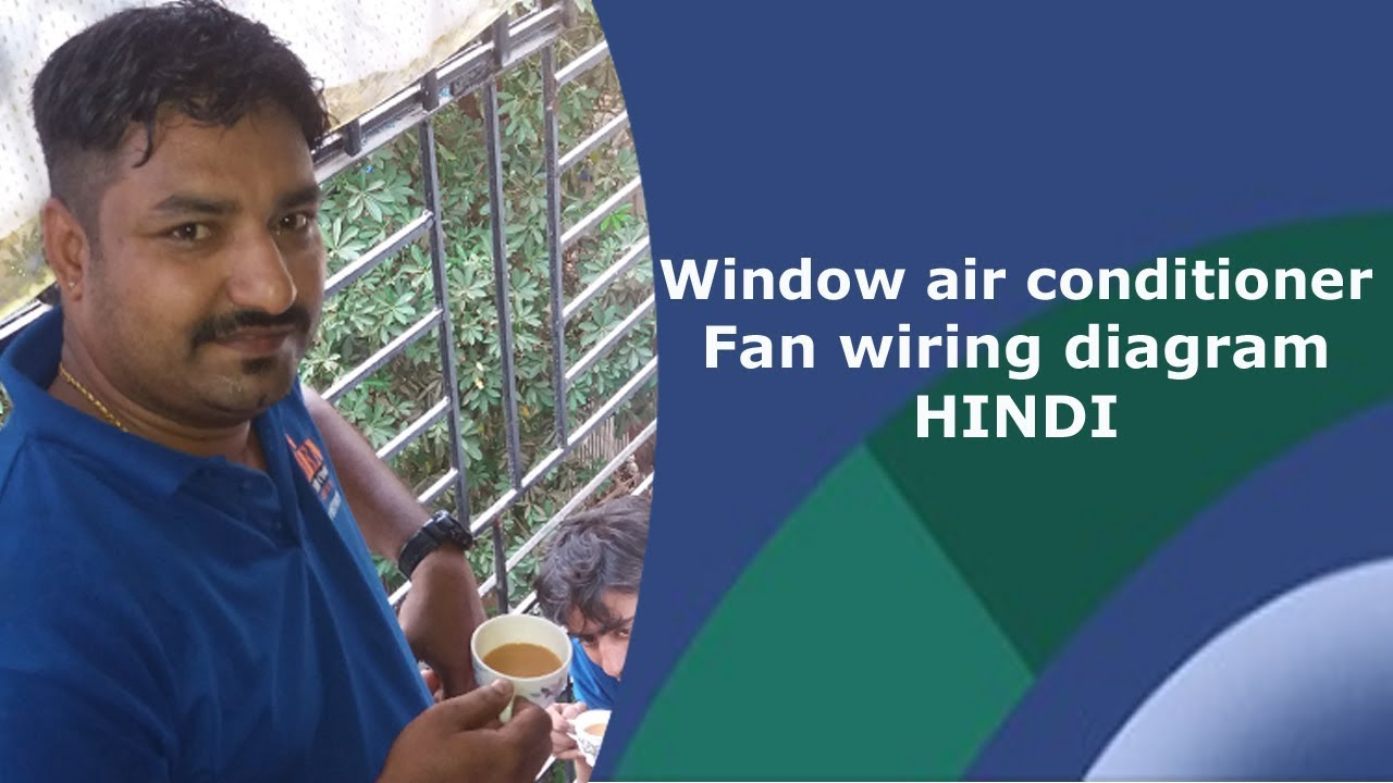 Window air conditioner fan motor winding - YouTube