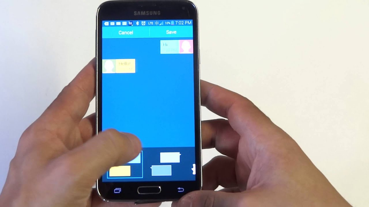 samsung galaxy s5 how to change text messages background style