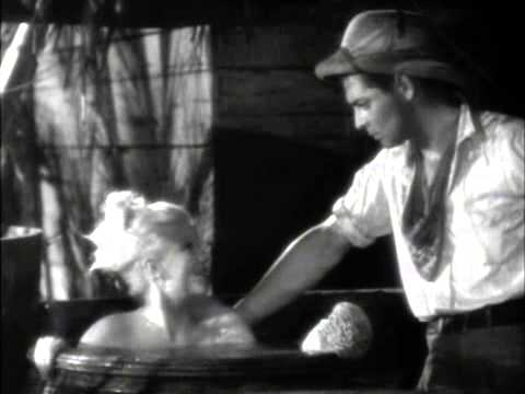 Jean Harlow Bathing In Red Dust * Pre-Code Scene *