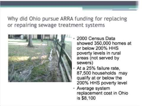 Ohio ARRA Funded septic system replacement project
