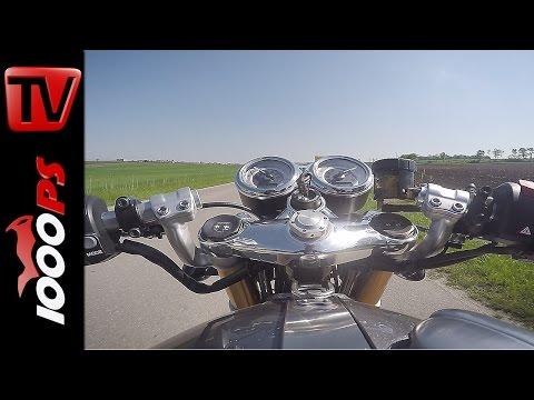 Triumph Thruxton R 2016 |  0-120 km/h ohne Traktionskontrolle | Onboard