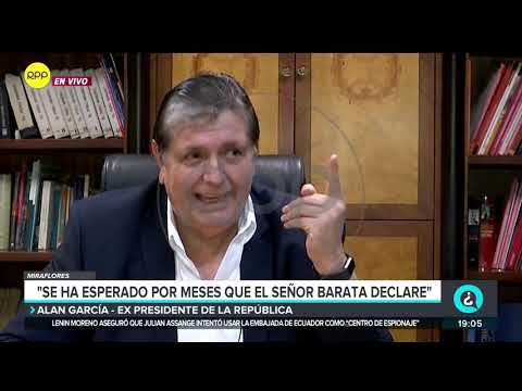 Alan García: 'Yo que culpa tengo de haber triunfado'