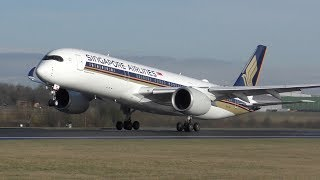 35 Takeoffs in 12 Minutes: A350, 777, A380, 787, 767, A330, 757, A321, 737, A320 Manchester Airport