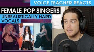 5 Unrealistically Hard Vocals (Demi, Mariah, Camila, Leigh-Anne, Pia Mia)   Voice Teacher Reacts