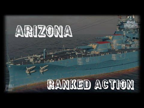 Let's Play World of Warships | Arizona | Ranked Action [ Gameplay  - German - Deutsch ]