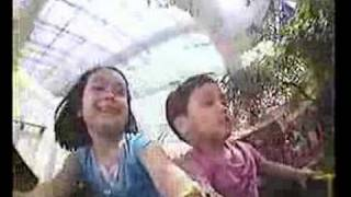 David and Crystal in Circus Circus mini Roller Coaster