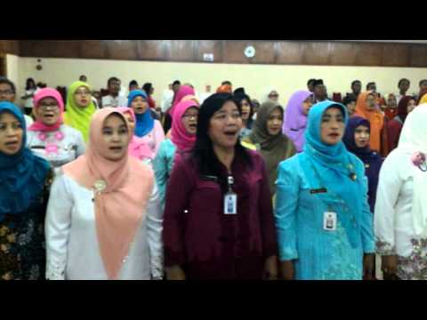 LAGU MARS BK ,SERAH TERIMA PENGURUS MGBK SMP DKI 2012 -2015 KE 2015 -2018 ,DINAS GATSU ,7 APRIL 2016