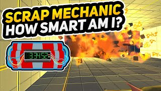 Only hard thinking gamers can solve this Escape Room Puzzle! Scrap Mechanic hard puzzle MAP