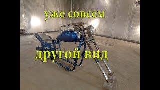 Тюнинг мотоцикла// УРАЛ// Эта вилка уже начинает приобретать необычный вид .