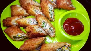 Bread Curd Fire Rolls Recipe | Dahi Sholey | दही के शोले | Crispy Bread Curd and Paneer Fried Rolls