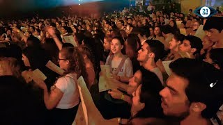 Baixar 4,000 college students from 60 nations sing as one in TLV