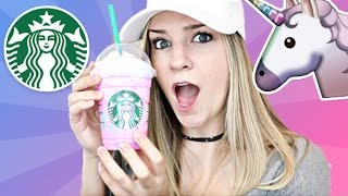 Taste Testing the Starbucks unicorn frappuccino and (attempting) to...