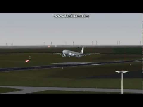FlightGear: A Not Good Not Bad Landing With Boeing 777-300ER At LFRB