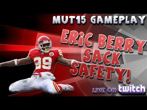 """ERIC BERRY SACK SAFETY! """"HOW TO GET A SAFETY"""" -- """"MUT 15 GAMEPLAY"""""""