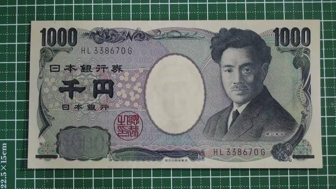 Micro Print Japanese Yen Notes...