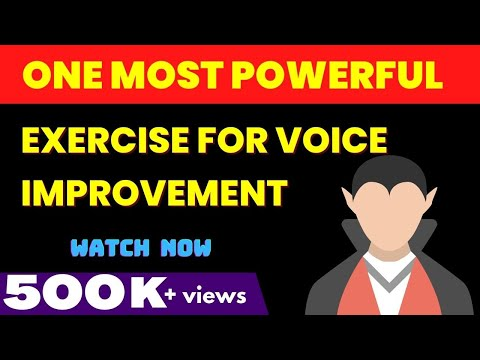 one most powerful exercise for voice improvement
